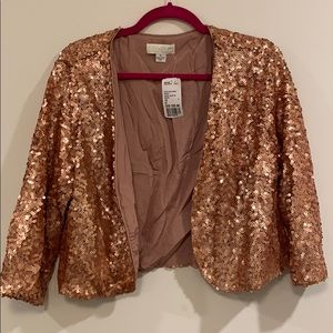 Sequinned Cropped Blazer